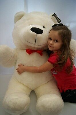 "Giant Large Big Huge White Teddy Bear 57"" 145 Cm  Express Delivery To  Uk !"