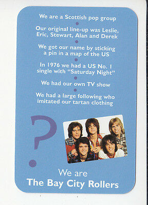 THE BAY CITY ROLLERS Scottish Rock Group 2006 QUIZ GAME TRIVIA PHOTO CARD