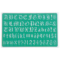 40005 Stencil / Template: Old English Lettering; Upper & Lower Case & Numbers 20