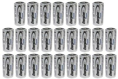 25 New Energizer Lithium Cr123 Cr123A 123 123A 3V Battery Exp. 2028 Free Ship