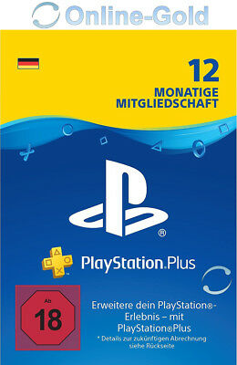 PSN Karte 365 Tage 12 Monate 1 Jahr - Playstation Plus Digital Key - PS3 PS4[DE]