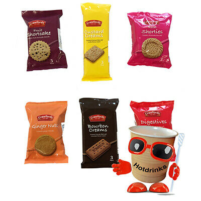 Walkers Mini Twin Pack Wrapped Assorted Luxury Gourmet Biscuits, Cookies x 100