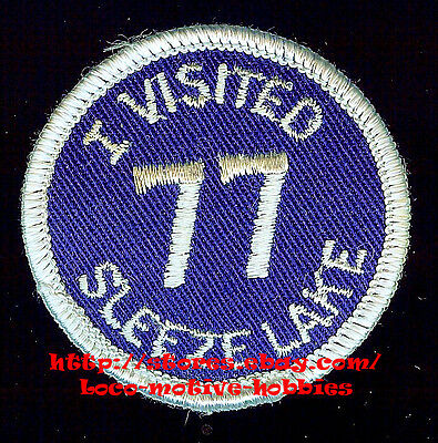 "PATCH 2"" Collectible  1977  '77 I VISITED SLEEZE LAKE Party  RV VAN Get Together"