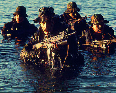 U.s. Navy Seal Members During Tactical Warfare Training  8X10 Photo