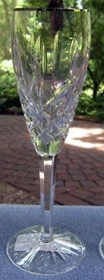 Fancy Waterford Crystal Araglin Platinum Champagne Flute Goblet New and Mint