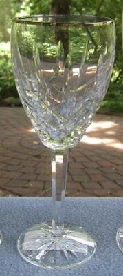 Fancy Waterford Crystal Araglin Platinum Wine Goblet New & Mint