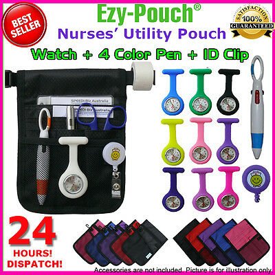 Quality Nurse Teacher Childcare Pouch Pocket Bag Silicon Fob Watch Pick Bonus