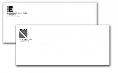 2500 #10 Business Regular Envelopes 1 Ink Color Print Top Quality Free Shipping