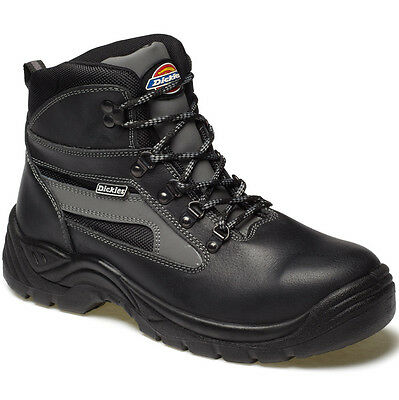 Mens Dickies Severn Safety Work Boots Size Uk 3 - 14 Fa23500 Black Leather