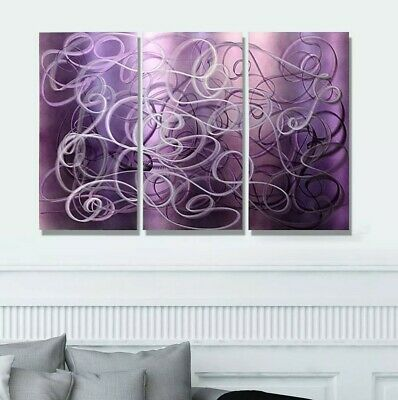 """Modern Abstract Painting Metal Wall Art Sculpture Home Decor """"Confused Passion"""""""