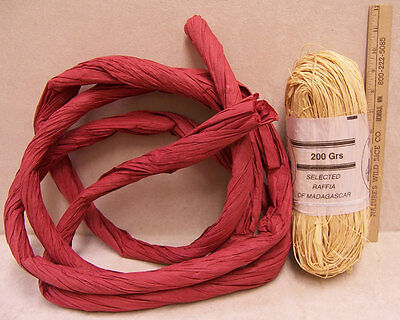 American Mercantile Cooporation Raffia Of Madagascar Natrual  Red Color