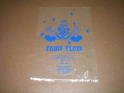 Fairy Floss Bags with Clown Face (1,000)