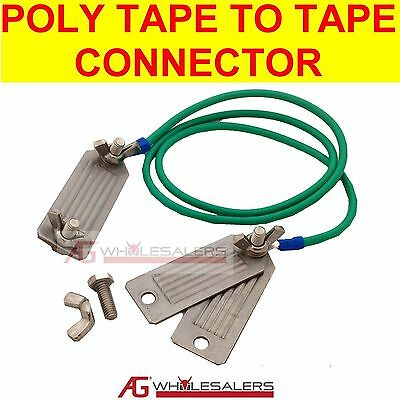 Poly Tape To Tape Connector Joiner Clamp 12Mm 40Mm Electric Fence Energiser
