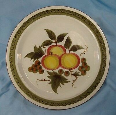 Vintage Apple Delight Dinner Plate Stangl Hand Painted Colorful Lovely Nice (O)