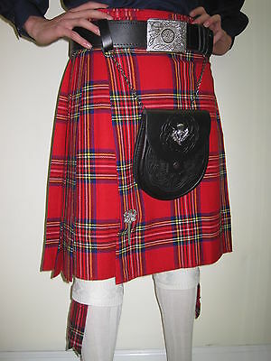 Royal Stewart Tartan Scottish Kilt SCA  Waist Sizes 30 - 52