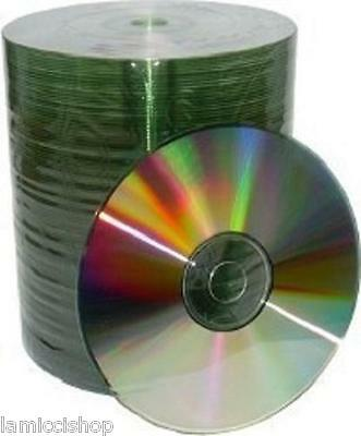 1000 pcs CD-R 52x Silver Shiny Top Blank Media Free Priority Upgraded Shipping
