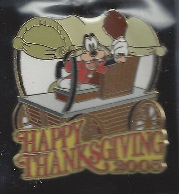 WDW Cast Exclusive - Happy Thanksgiving 2005 (Goofy) ARTIST PROOF PIN
