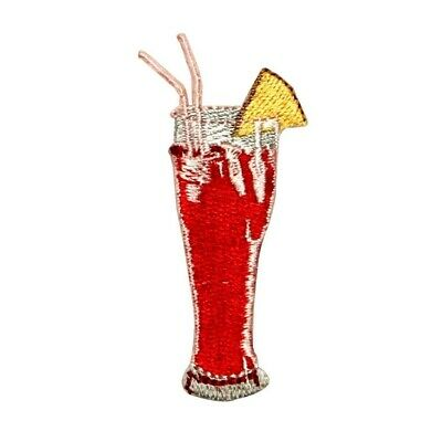 ID 1962B Lime Margarita Glass Patch Alcohol Drink Embroidered Iron On Applique