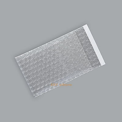 """60 Clear Bubble Bags Small Size Plastic Packing Pouches 2.5"""" x 3""""_65 x 80+20mm"""
