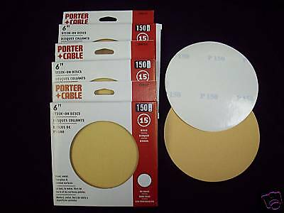 """6"""" NH stick on sanding discs 150Grit 45pk Porter Cable"""