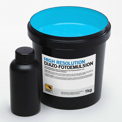 1kg Diazo-Fotoemulsion | High Resolution | Kopierschicht | Siebdruck Emulsion