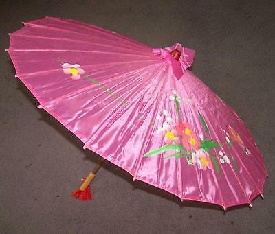 2 WOODEN UMBRELLAS PARASOL new womens vintage wood umbrella hand made painted