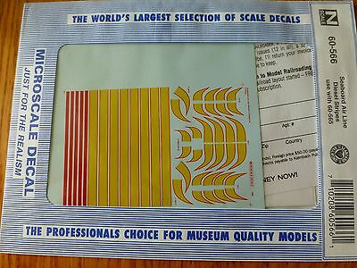Microscale Decal N  #60-566 Seaboard Air Line Hood Diesel Stripes use with 60