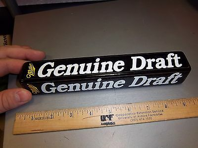 Miller Genuine Draft Beer Tap Handle, nice collectible!