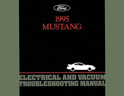 1995 Ford Mustang Electrical Vacuum Shop Service Repair Manual Book Guide OEM