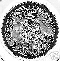 2008 50 cent Coat of Arms Proof Coin Australia out of a Set