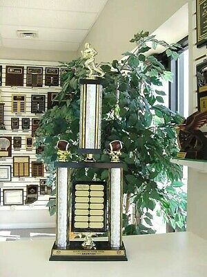 Fantasy Football Awesome New Large Two Post Trophy 14 Year Perpetual Award