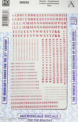 Microscale Decal #90034   Roman Silver Condensed Letters and Numbers