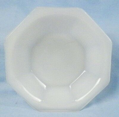 Vi White Akro Agate Octagonal Cereal Bowl fr Childs Tea Set American Maid