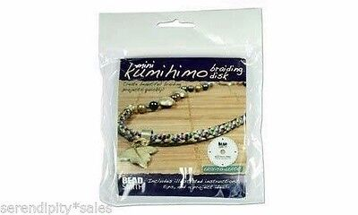"""4.25 inch Kumihimo Round Disc Plate for Japanese Braiding w/ Instructions 4-1/4"""""""
