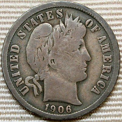 1906-O Barber Dime * Better Date Coin