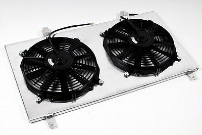 Mitsubishi Evo 7 8 9 Aluminium Radiator Fan Shroud Complete With Electric Fans