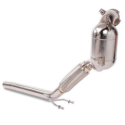 Stainless Steel 200Cpi Sports Cat Flexi Exhaust Downpipe For Vw Golf Mk7 1.4 Tsi