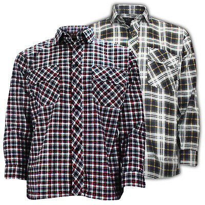 High Quality Mens Boys Flannel Lumberjack Check Cotton Casual Work Shirt