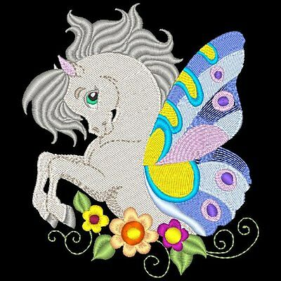 Flutter Horses - 20 Machine Embroidery Designs (Azeb)