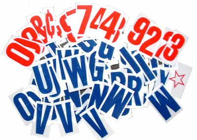 "Extra LETTER KIT For Sidewalk Sign - Blue letters 4"" Changeable Flexable"