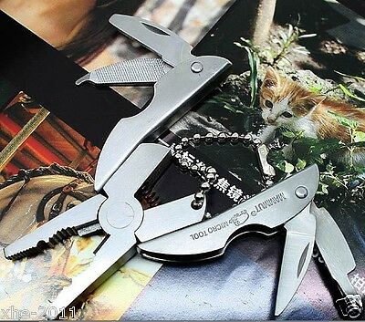 MAMMUT Mini Key Chain Pocket Tool - Stainless Multi Tool Plier Knife - AU Ship