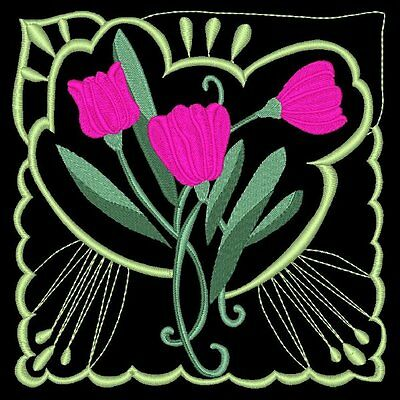 Tulip Blocks -  36 Machine Embroidery Designs (Azeb)