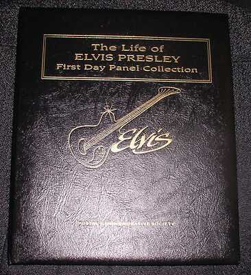 1993 Postal Comm. Society The Life Of Elvis Presley 1St Day Panel Collection