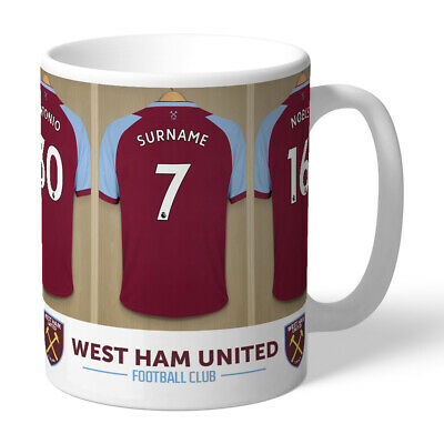 Personalised WEST HAM Hammers Football Club FC Dressing Room Mug Gift