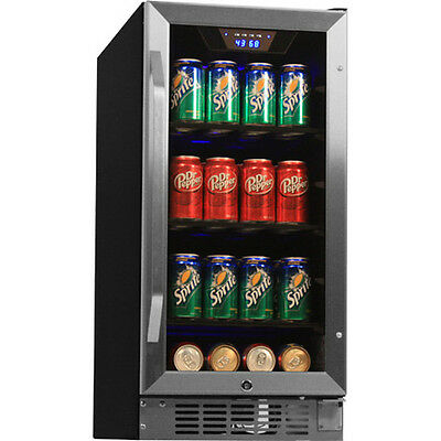 80 Can Undercounter Beverage Cooler Refrigerator Compact