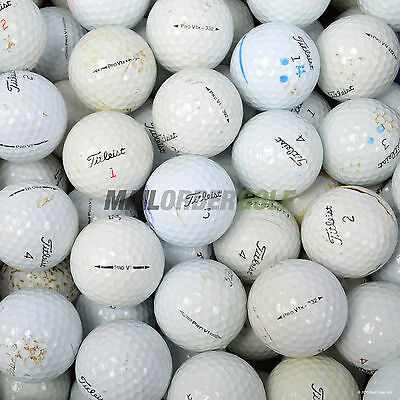 100 Cheap Used Titleist Pro V1 / X Lake Golf Balls Hit Away Cuts Spilts Practise