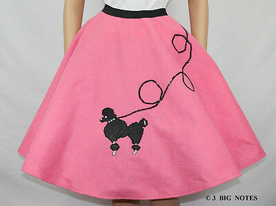 "4-Pcs LIGHT BLUE Poodle Skirt Size LARGE Waist 35/""-42/"" L25/"""