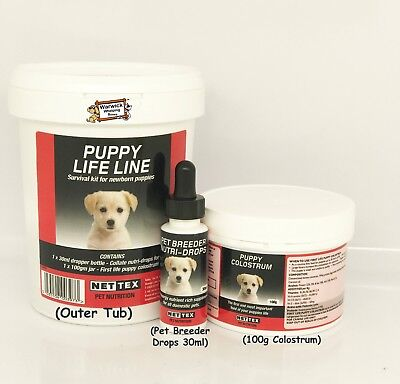 Nettex Nutri drops col-late Life Line Puppy Survival Kit Whelping Colostrum