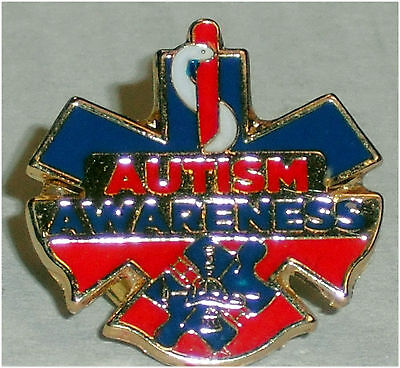 Autism Awareness 1st Responder firefighter fireman EMS EMT paramedic Pins