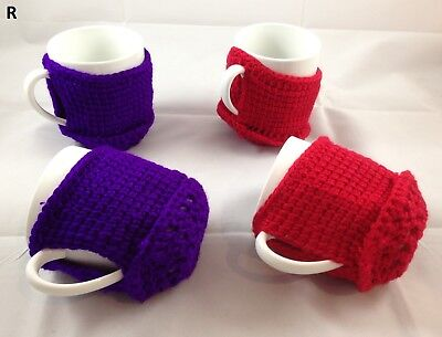1x Crocheted Knitted Thermal Tea Coffee Cup Mug Cosy Cozy Australian Hand Made